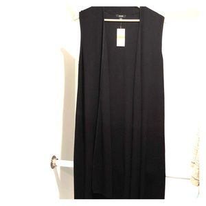 NWT Alfani sleeveless black cardigan